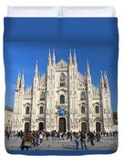 Duomo In Milano. Italy Duvet Cover by Antonio Scarpi