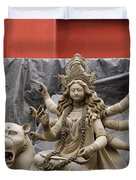 Durga In Kumartuli Duvet Cover