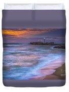 Dusk At La Caleta Beach Cadiz Spain Duvet Cover