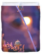 Dusk Flowers Duvet Cover