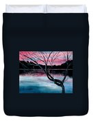 Dusk Lake Arrowhead Maine  Duvet Cover