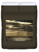 Dusk On Pacific Duvet Cover