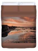 Dusk On The North Jetty Duvet Cover