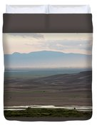 Dusk Over Medano Creek And The San Luis Duvet Cover