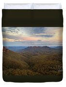 Dusk Over Mount Solitary Duvet Cover