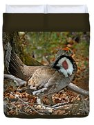 Dusky Grouse Cock Duvet Cover