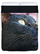 Dusty Black Cat Duvet Cover