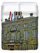 Dutch Architecture Of The Golden Age For Town Hall In Enkhuizen- Duvet Cover