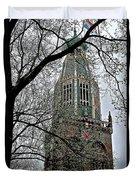 Dutch Reformed Church Tower In Enkhuizen-netherlands Duvet Cover