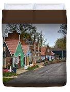 Dutch Shops On Windmill Island In Holland Michigan Duvet Cover