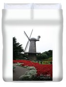 Dutch Windmill In Golden Gate Park Duvet Cover