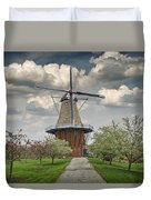 Dutch Windmill The Dezwaan On Windmill Island In Holland Michigan Duvet Cover