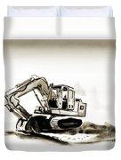 Duty Dozer In Sepia Duvet Cover by Kip DeVore