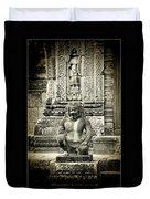 Dvarapala At Banteay Srey Duvet Cover