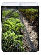 Dwarf Green Curled Duvet Cover