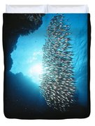 Dwarf Sweepers In Cave Entrance Duvet Cover