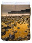 D.wiggett Rocks On Beach, China Beach Duvet Cover by First Light