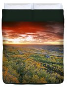 D.wiggett View Of Dry Island, Buffalo Duvet Cover
