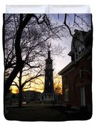 Dwight Windmill At Sunset Duvet Cover