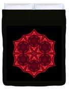 Dying Amaryllis IIi Flower Mandala Duvet Cover