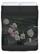 Dying Grieving Flowers Duvet Cover