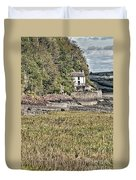 Dylan Thomas Boathouse At Laugharne 2 Duvet Cover