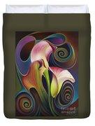 Dynamic Floral 4 Cala Lillies Duvet Cover
