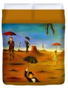 Spirit Of The Flying Umbrellas Edit 4 Duvet Cover