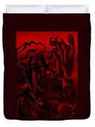 E Vincent Red Duvet Cover