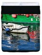 E17 Reflections - Lyme Regis Harbour Duvet Cover