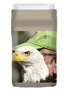Eagle And His Man Duvet Cover