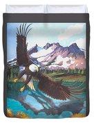 Eagle Oregon Lake Duvet Cover