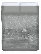 Eagle Over Water Duvet Cover