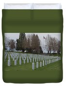 Eagle Point National Cemetery In Winter 2 Duvet Cover
