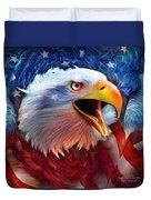 Eagle Red White Blue 2 Duvet Cover