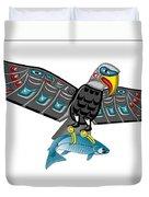 Eagle Salmon Totem Duvet Cover