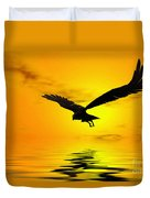 Eagle Sunset Duvet Cover