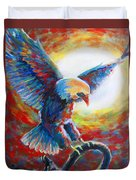 Eagle Takes Charge Duvet Cover