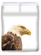 Eagle With Prey Spied Duvet Cover by Douglas Barnett