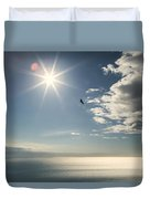 Eagles And The Sea Duvet Cover