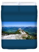 Eagle's Nest Duvet Cover by Dave Bowman