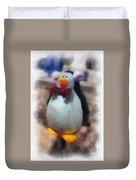 Ear Muff Penguin Photo Art Duvet Cover
