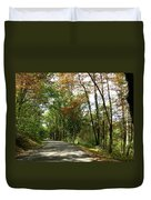 Early Autumn Drive Duvet Cover