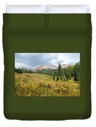 Early Autumn In The San Juans -  Mount Wilson And Wilson Peak Duvet Cover