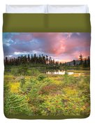 Early Autumn Meadow Sunset At Mt Baker Duvet Cover