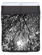 Early Autumn Monochrome Duvet Cover