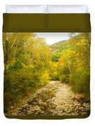 Early Autumn On Seneca Creek Wv Duvet Cover