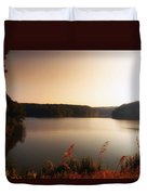 Early Autumn On The Lake Duvet Cover