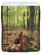 Early Autumn Woods Duvet Cover