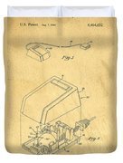 Early Computer Mouse Patent Yellowed Paper Duvet Cover